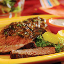 Grilled Skirt Steak with Creamy Citrus Sauce